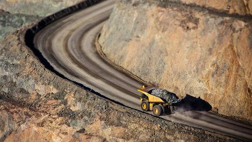 heavy opencut gold mine kalgoorlie truck landscape