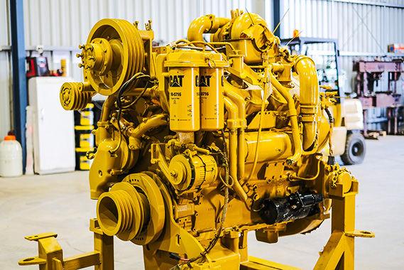 cat engine in workshop